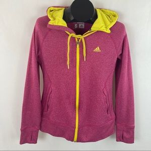Adidas Climawarm Pink Hoodie Small